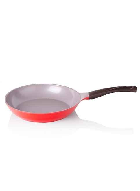 Cheftopf Cookware By Biev Kırmızı 28 Cm Tava Kırmızı